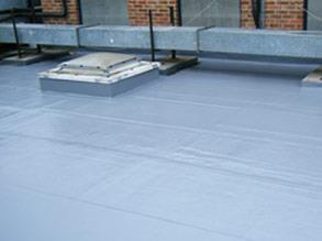 Roof area protected using Belzona 3131 (WG Membrane) in winter